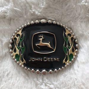 John Deere On Fire Belt Buckle